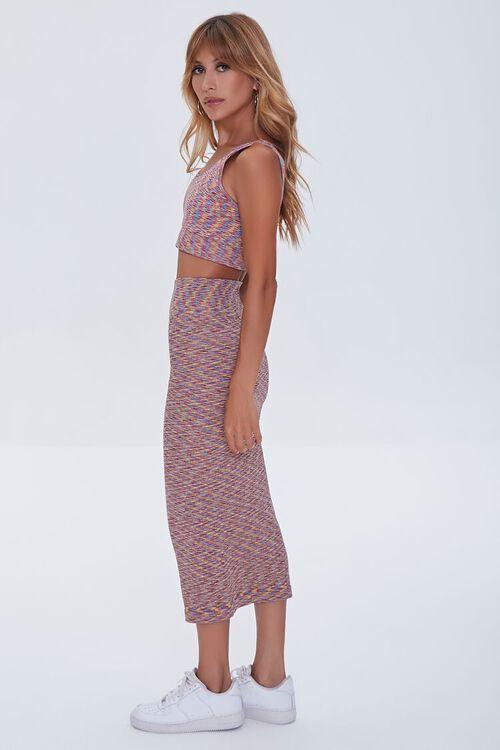 Heathered Crop Top & Skirt Set, image 2
