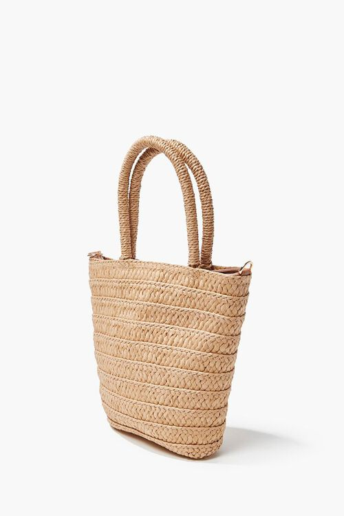 Faux Straw Tote Bag, image 2