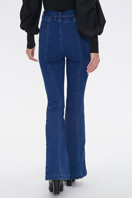 Tie-Belt Flare Jeans, image 4