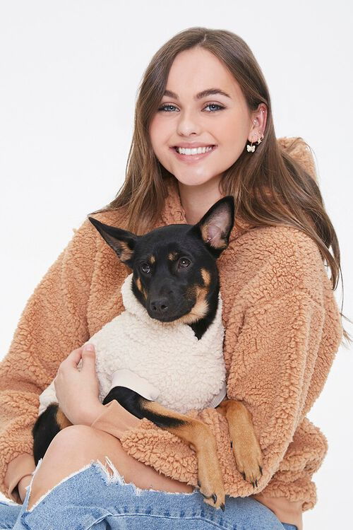 Faux Shearling Dog Sweater, image 1