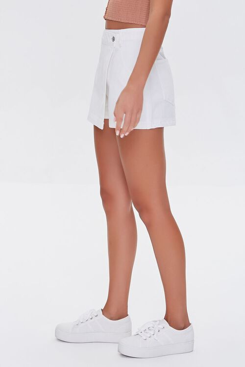Twill Buttoned Wrap Skort, image 3