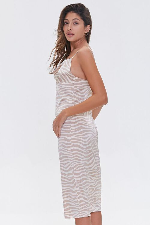 Zebra Print Cowl Dress, image 2