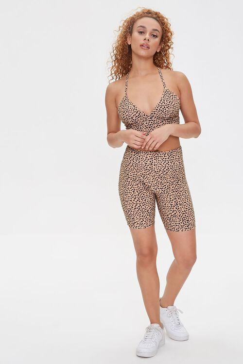 Active Cheetah Print Biker Shorts, image 5