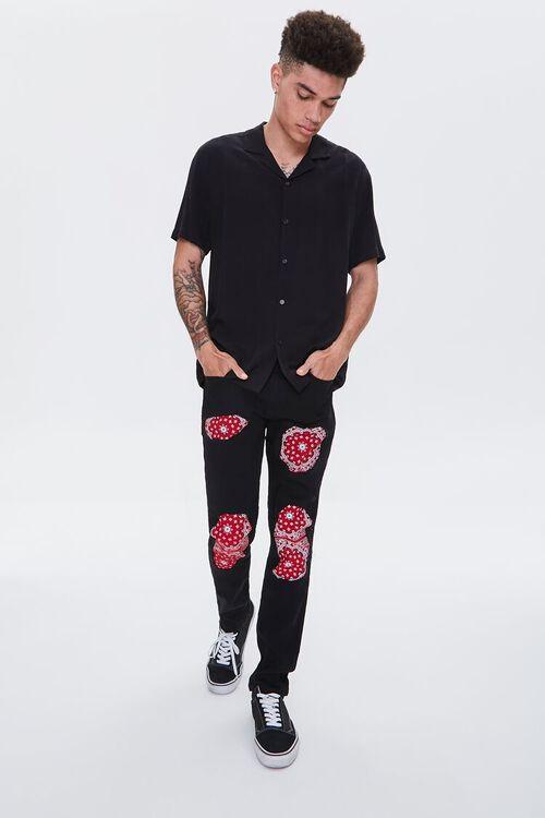 Bandana-Patch Skinny Jeans, image 1