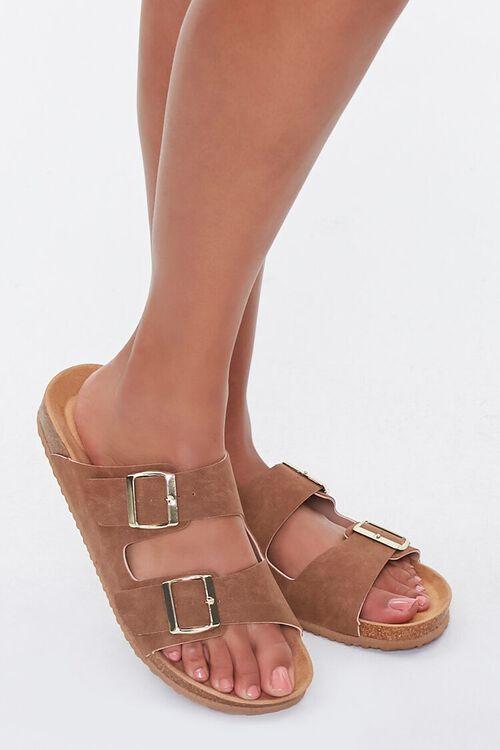 Buckled Flatform Sandals (Wide), image 1