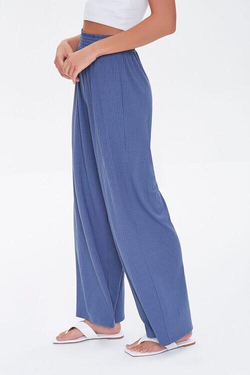 Ribbed Knit Wide-Leg Pants, image 3