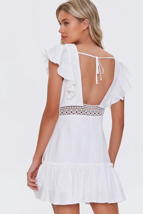 Ruffled Lace-Trim Cap-Sleeve Dress, image 3