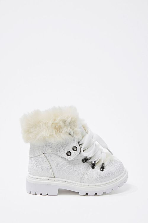 Girls Faux Fur-Trim Booties (Kids), image 1