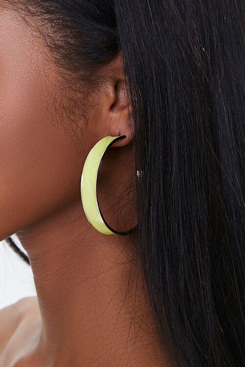 Opaque Hoop Earrings, image 1