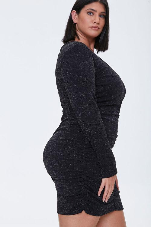 Plus Size Ruched Mini Dress, image 2