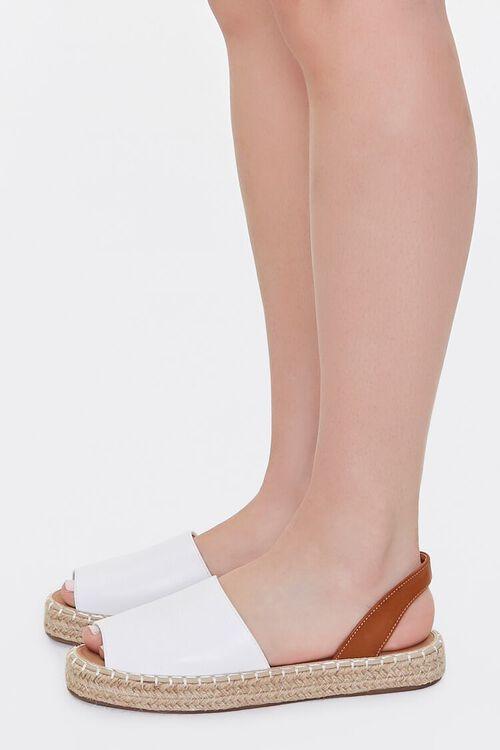 Peep-Toe Espadrille Flatform Sandals, image 2
