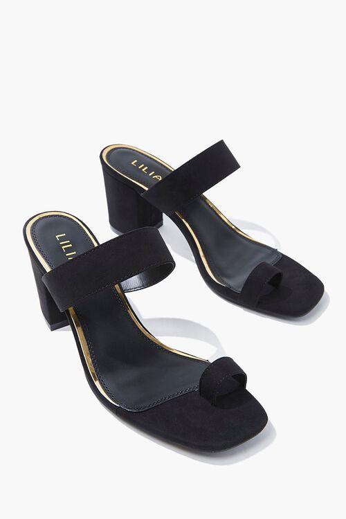 Faux Suede Toe-Loop Heels, image 3