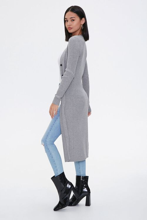 Ribbed Longline Cardigan Sweater, image 2
