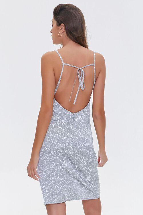 LIGHT BLUE/WHITE Satin Spotted Print Dress, image 3