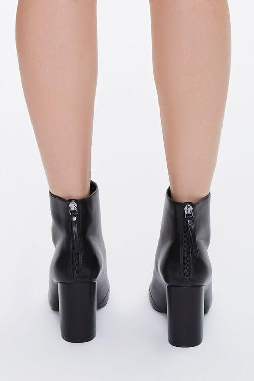 Faux Leather Block Heel Booties, image 3