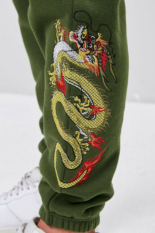 Dragon Embroidered Graphic Joggers, image 5