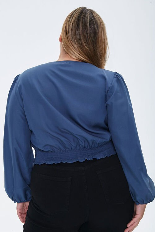 Plus Size Pintucked Crepe Top, image 3