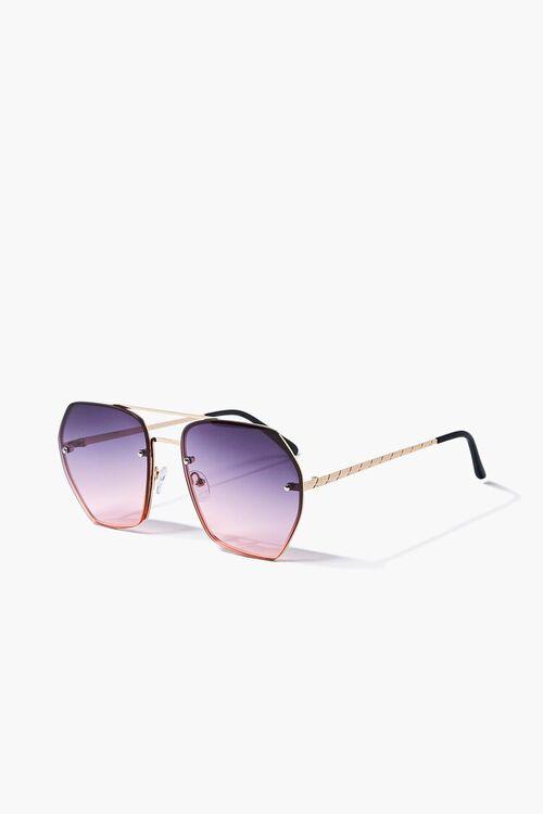 Aviator Geo Metal Sunglasses, image 2