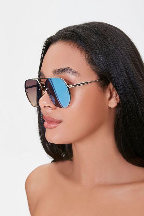 Mirrored Aviator Sunglasses, image 2