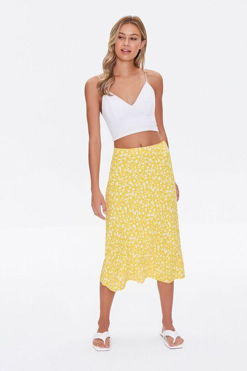 Floral Print Midi Skirt, image 1