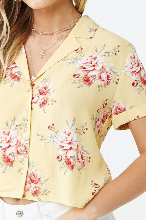 Floral Cuffed-Sleeve Shirt, image 5