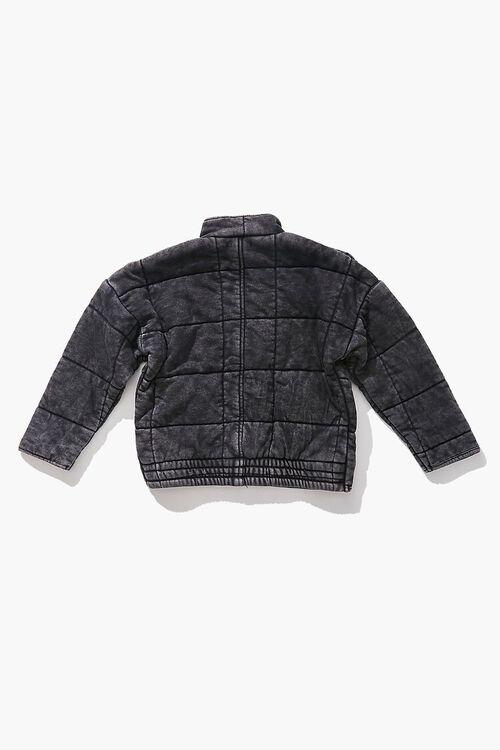 Girls Quilted Zip-Up Jacket (Kids), image 2