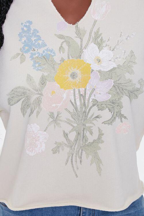 Floral Graphic Split-Neck Pullover, image 5