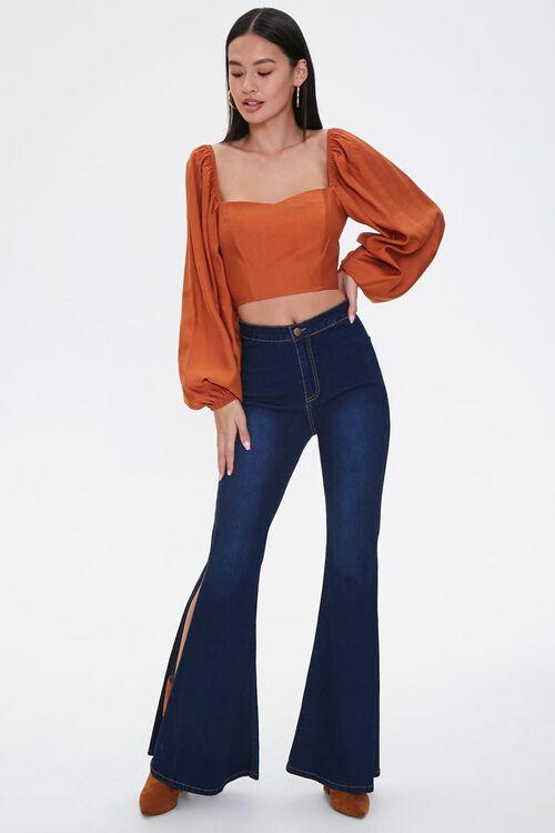 High-Rise Slit Flare Jeans, image 5