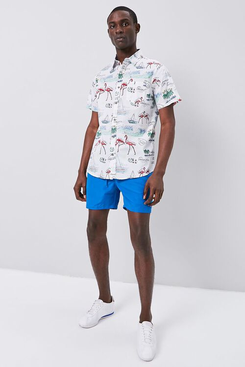 WHITE/MULTI Tropical Seaside Print Fitted Shirt, image 4
