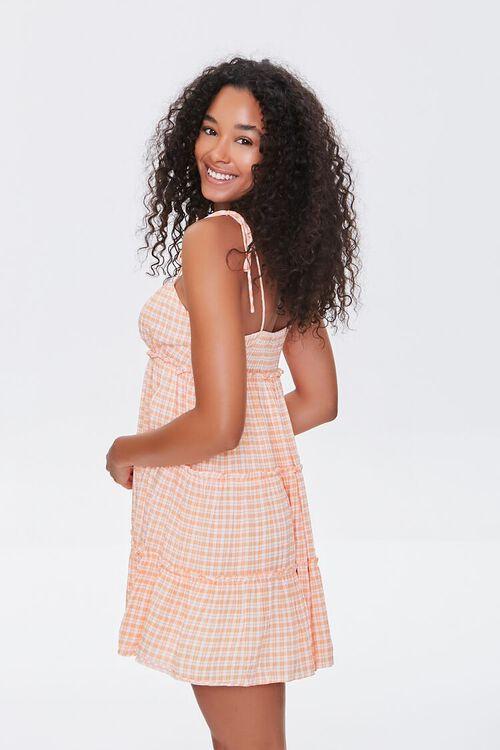 Gingham Tiered Cami Mini Dress, image 2