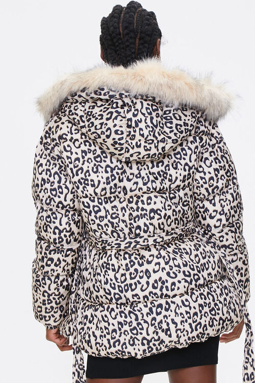 Leopard Print Puffer Jacket, image 3