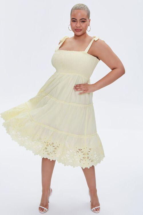 Plus Size Smocked Tie-Strap Dress, image 5