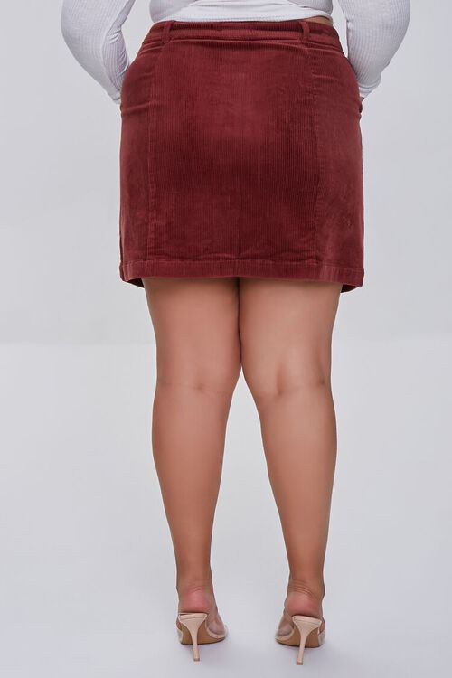 Plus Size Buttoned Corduroy Skirt, image 4