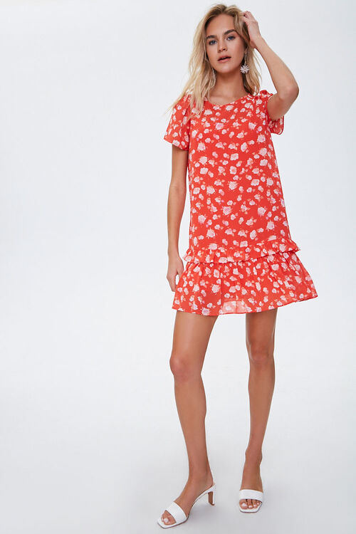 Chiffon Floral Tiered Dress, image 4