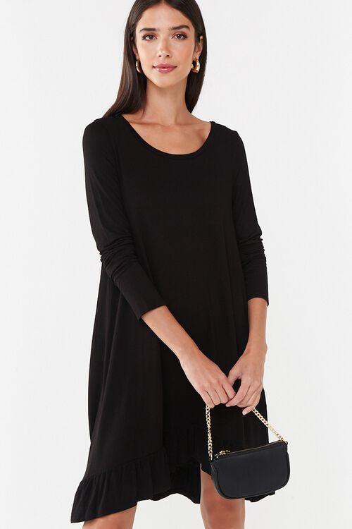 Ruffle-Hem High-Low Mini Dress, image 1