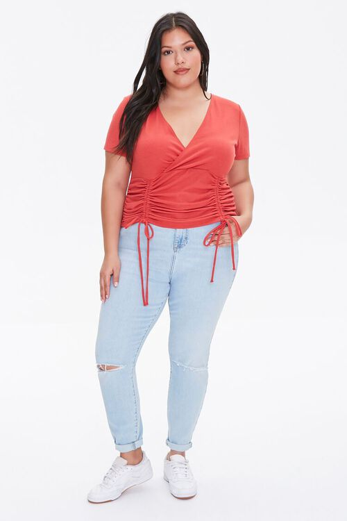 Plus Size Ruched Crop Top, image 4