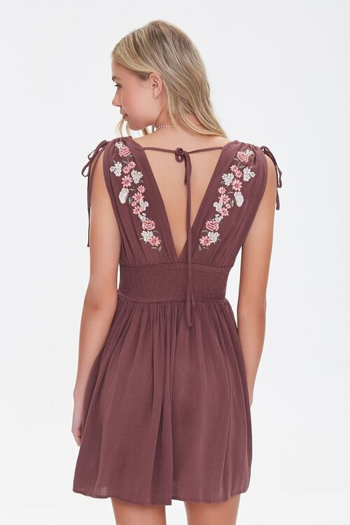 Floral Embroidered Mini Dress, image 3