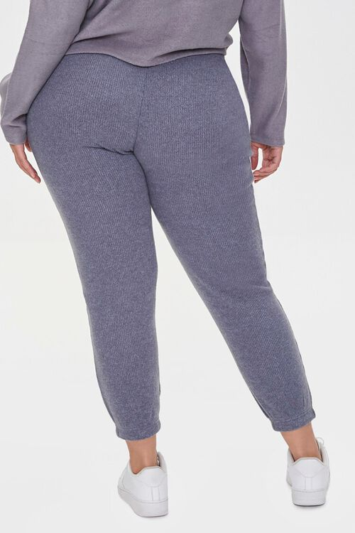 Plus Size Ribbed Knit Joggers, image 4