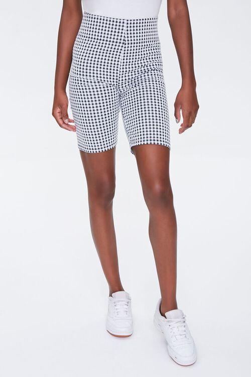Gingham Biker Shorts, image 2