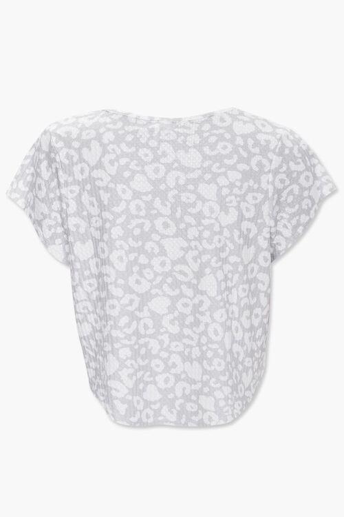 Leopard Print Pajama Tee, image 2