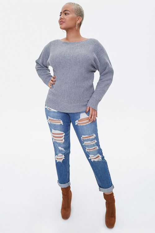 Plus Size Ribbed Knit Sweater, image 4