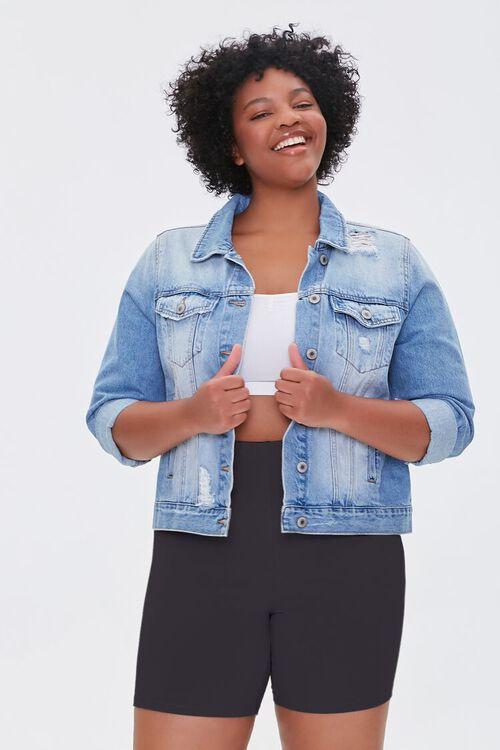 Plus Size Basic Organically Grown Cotton Biker Shorts, image 1