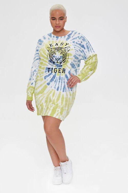 Plus Size Tiger Graphic Sweatshirt Dress, image 4
