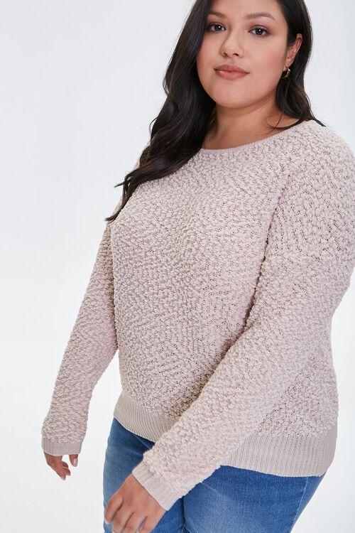 Plus Size Popcorn Knit Sweater, image 1