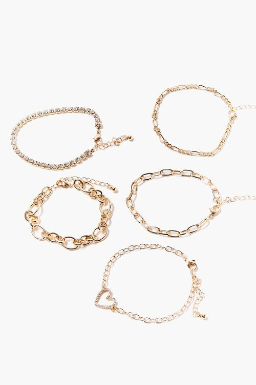 Heart Charm Bracelet Set, image 2