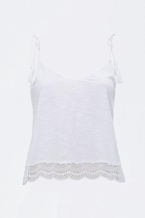 Crochet-Trim Tasseled Cami, image 1