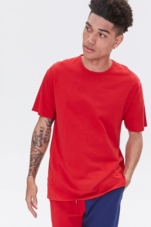 High-Low Crew Neck Tee, image 1