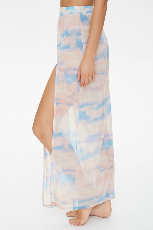 Cloud Wash Mesh Swim Cover-Up Skirt, image 3