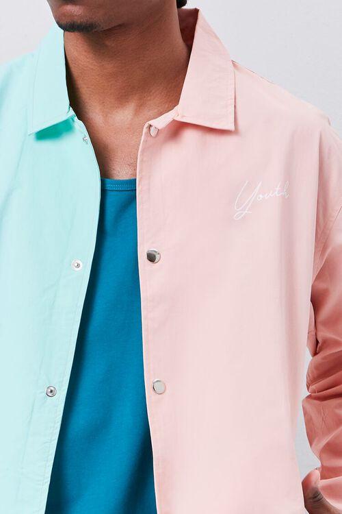 Colorblock Graphic Coach Jacket, image 6