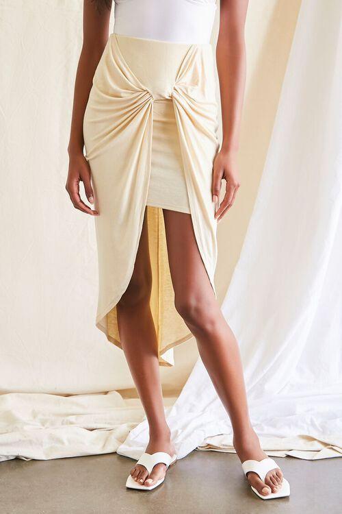 High-Low Gathered Skirt, image 2